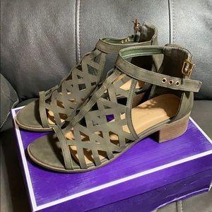Hunter Green Top Moda Sandals